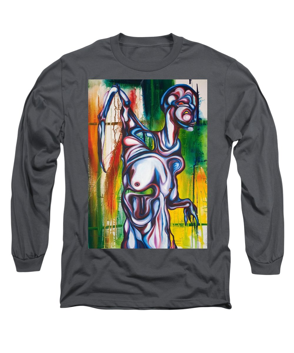 Monster Long Sleeve T-Shirt featuring the painting Rising Son by Sheridan Furrer