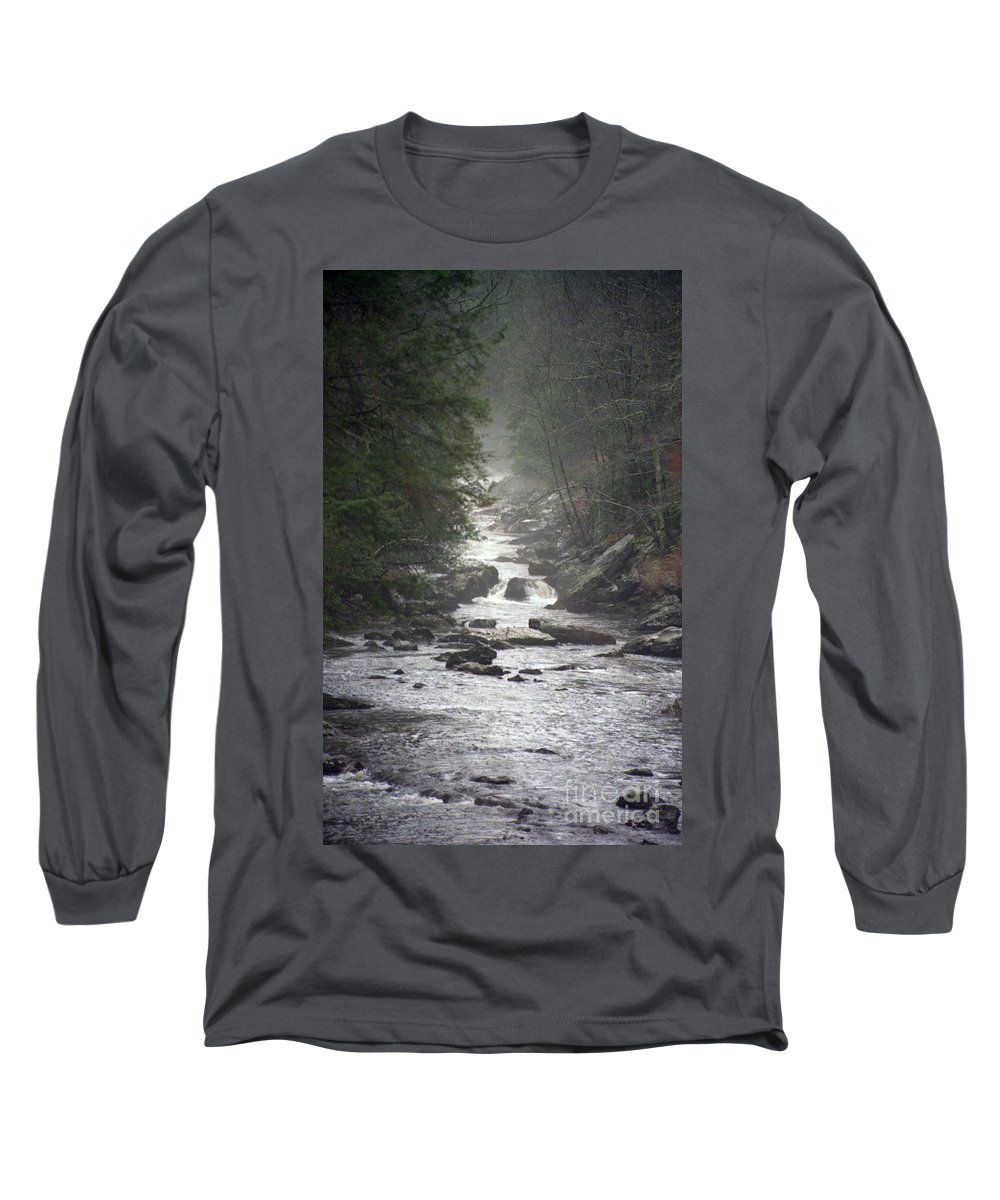 River Long Sleeve T-Shirt featuring the photograph River Run by Richard Rizzo