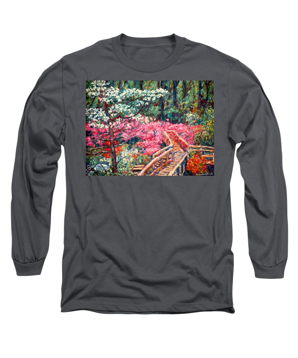 Garden Long Sleeve T-Shirt featuring the painting Roanoke Beauty by Kendall Kessler