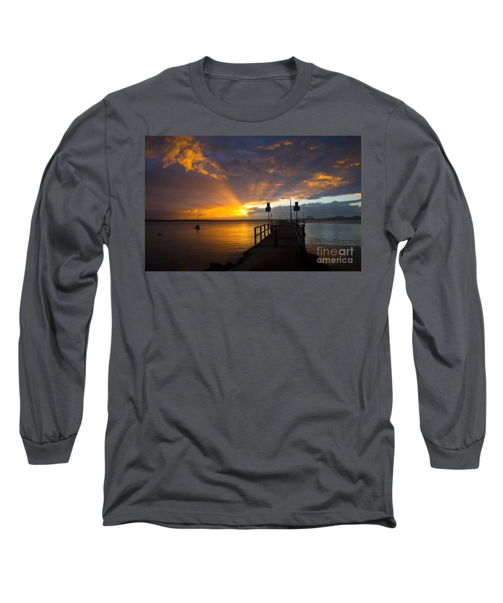 Sunrise Long Sleeve T-Shirt featuring the photograph Salamander Bay Sunrise by Sheila Smart Fine Art Photography