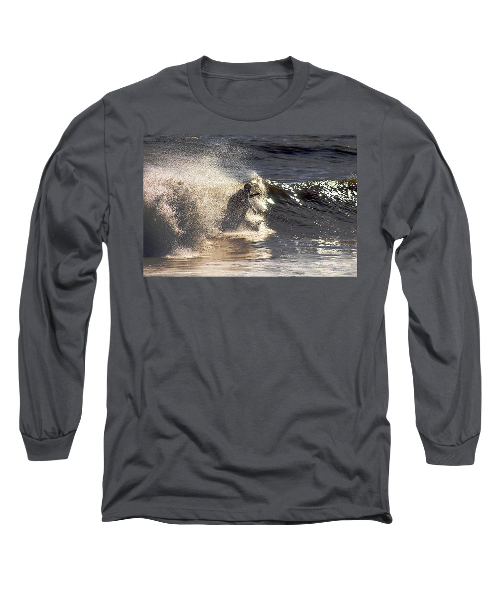 Clay Long Sleeve T-Shirt featuring the photograph Salt Spray Surfing by Clayton Bruster