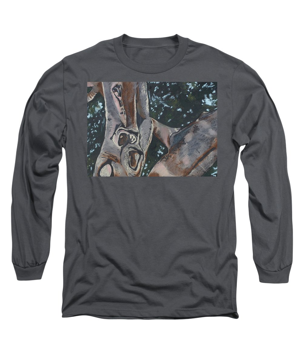 Contemporary Tree Long Sleeve T-Shirt featuring the drawing San Diego Zoo by Leah Tomaino