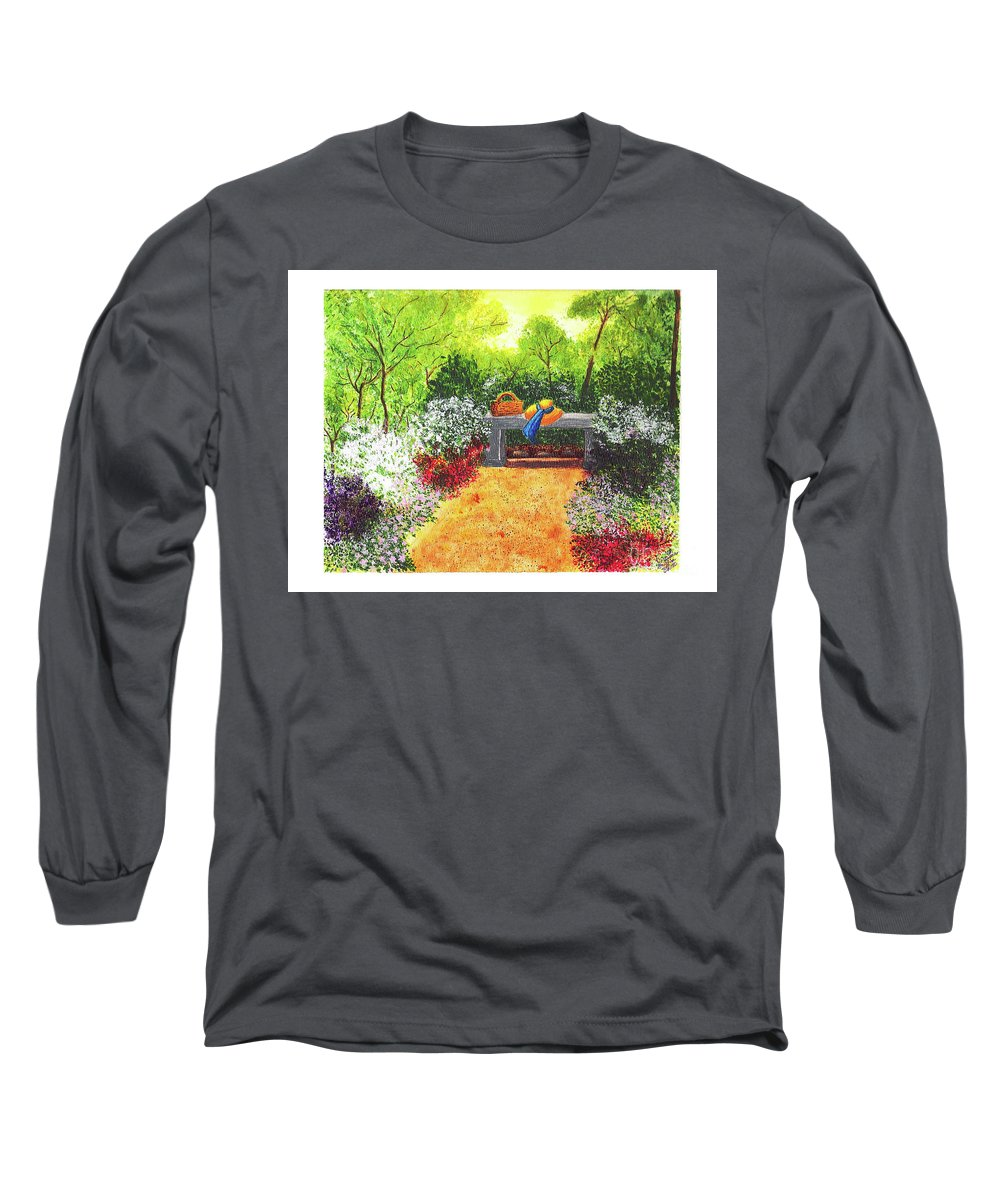 Garden Painting Long Sleeve T-Shirt featuring the painting Sanctuary by Patricia Griffin Brett