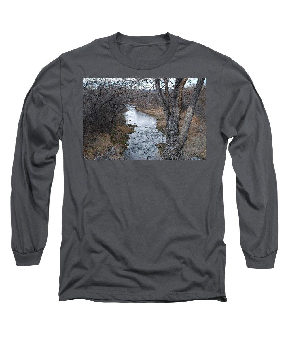 Santa Fe Long Sleeve T-Shirt featuring the photograph Santa Fe River by Rob Hans