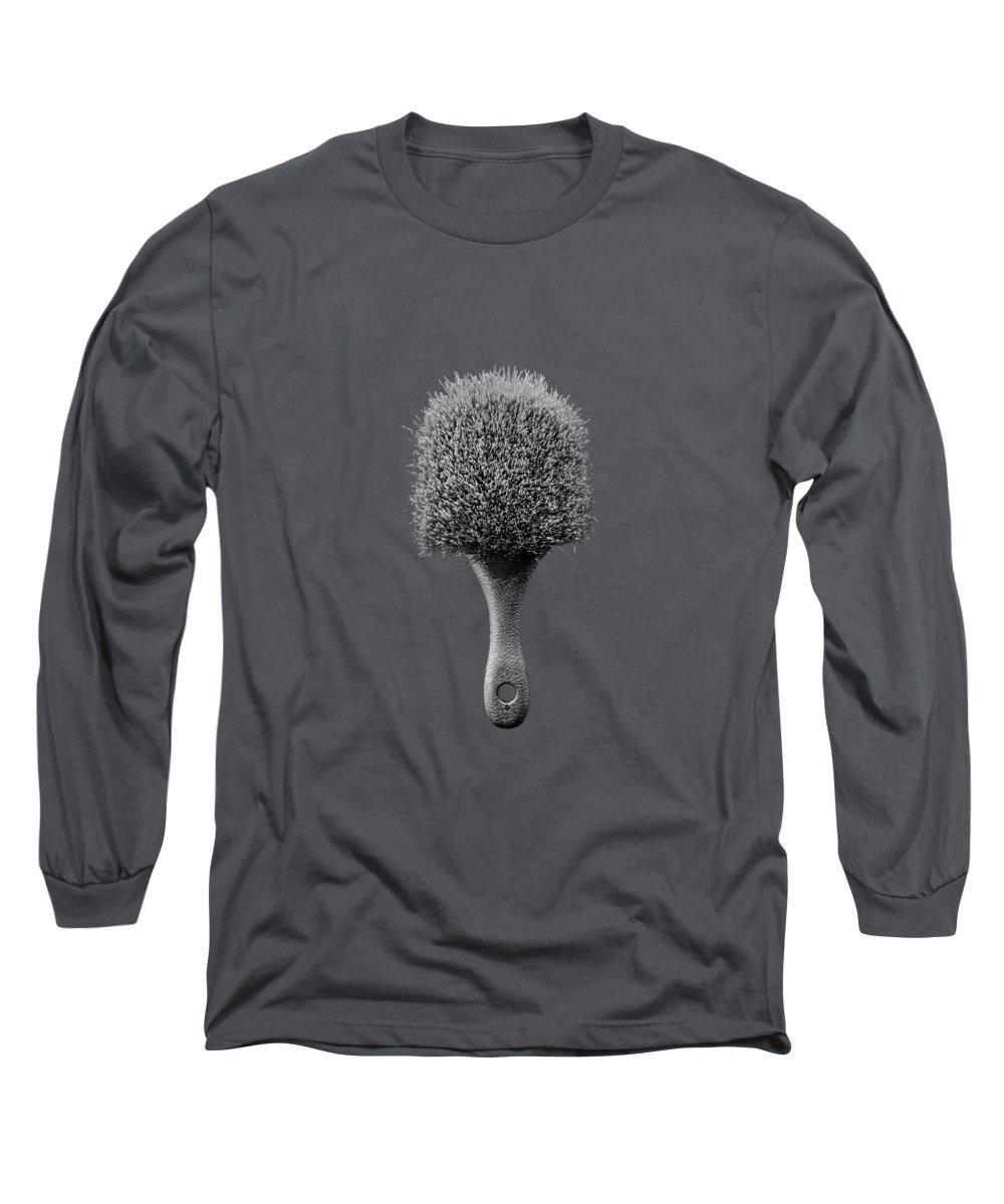 Art Long Sleeve T-Shirt featuring the photograph Scrub Brush Up Bw by YoPedro