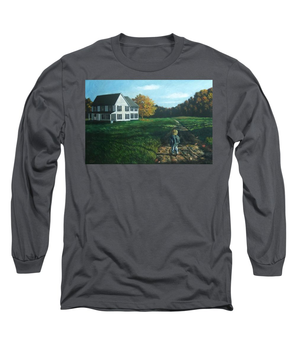 Pennsylvania Long Sleeve T-Shirt featuring the painting September Breeze Number 4 by Christopher Shellhammer