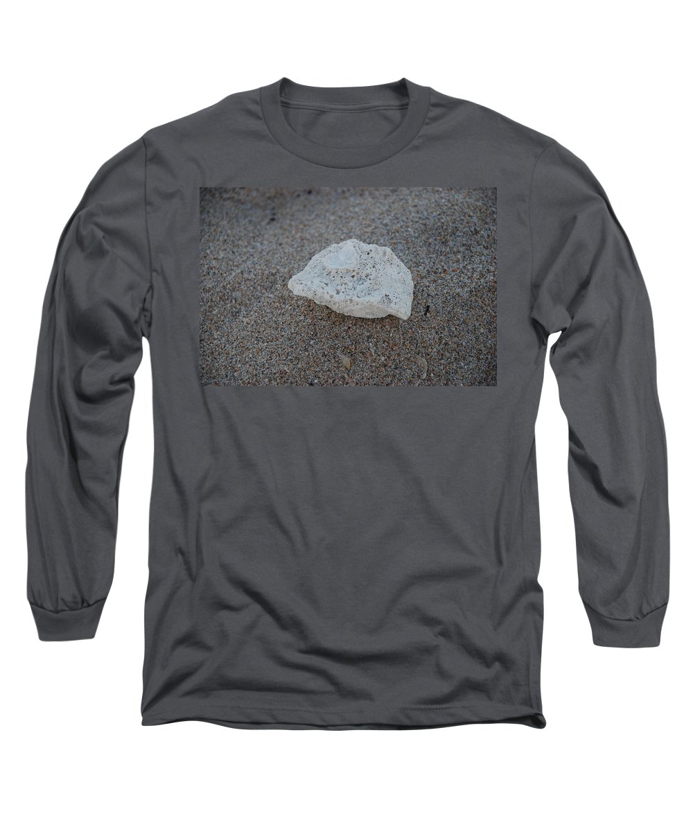 Shells Long Sleeve T-Shirt featuring the photograph Shell And Sand by Rob Hans