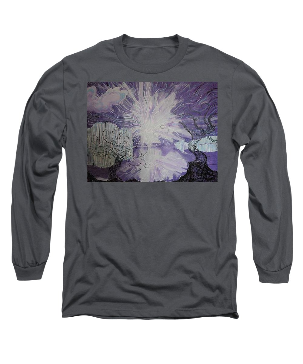 Squiggleism Long Sleeve T-Shirt featuring the painting Shore Dance by Stefan Duncan