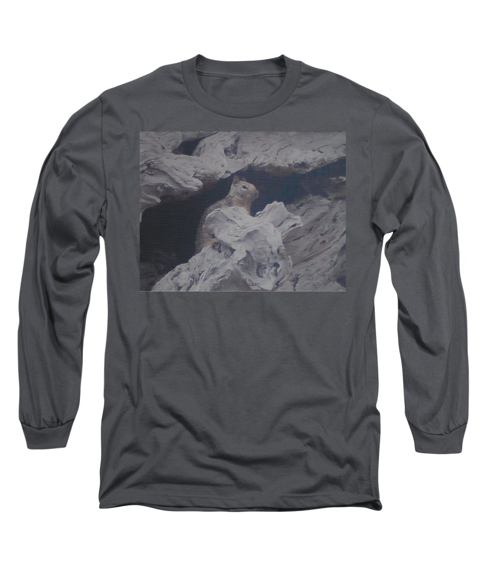 Squirrel Long Sleeve T-Shirt featuring the photograph Silent Observer by Pharris Art