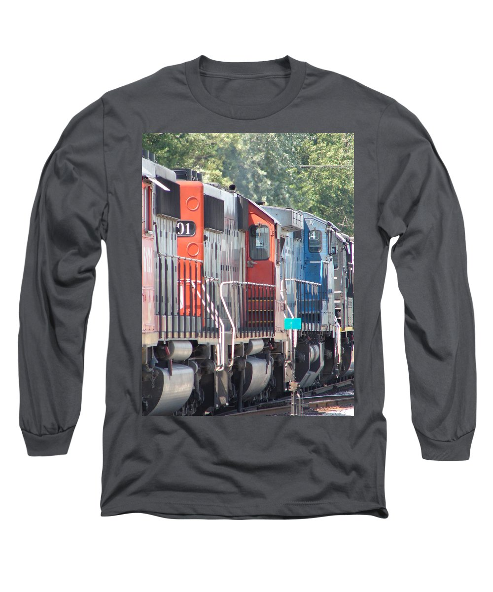 Long Sleeve T-Shirt featuring the photograph Sitting In The Switching Yard by J R  Seymour