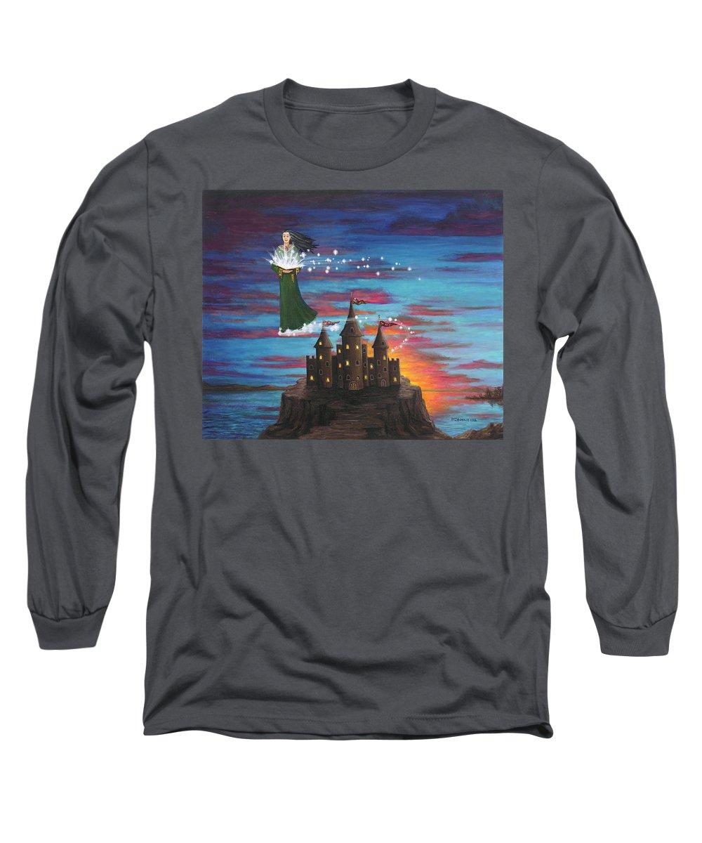 Wizard Long Sleeve T-Shirt featuring the digital art Sky Walker by Roz Eve