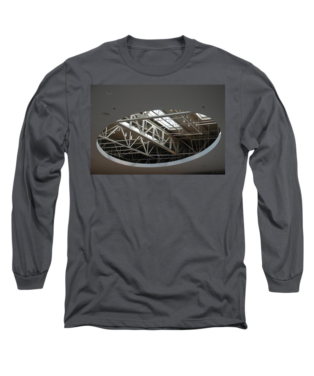 Ceiling Long Sleeve T-Shirt featuring the photograph Skylight Gurders by Rob Hans