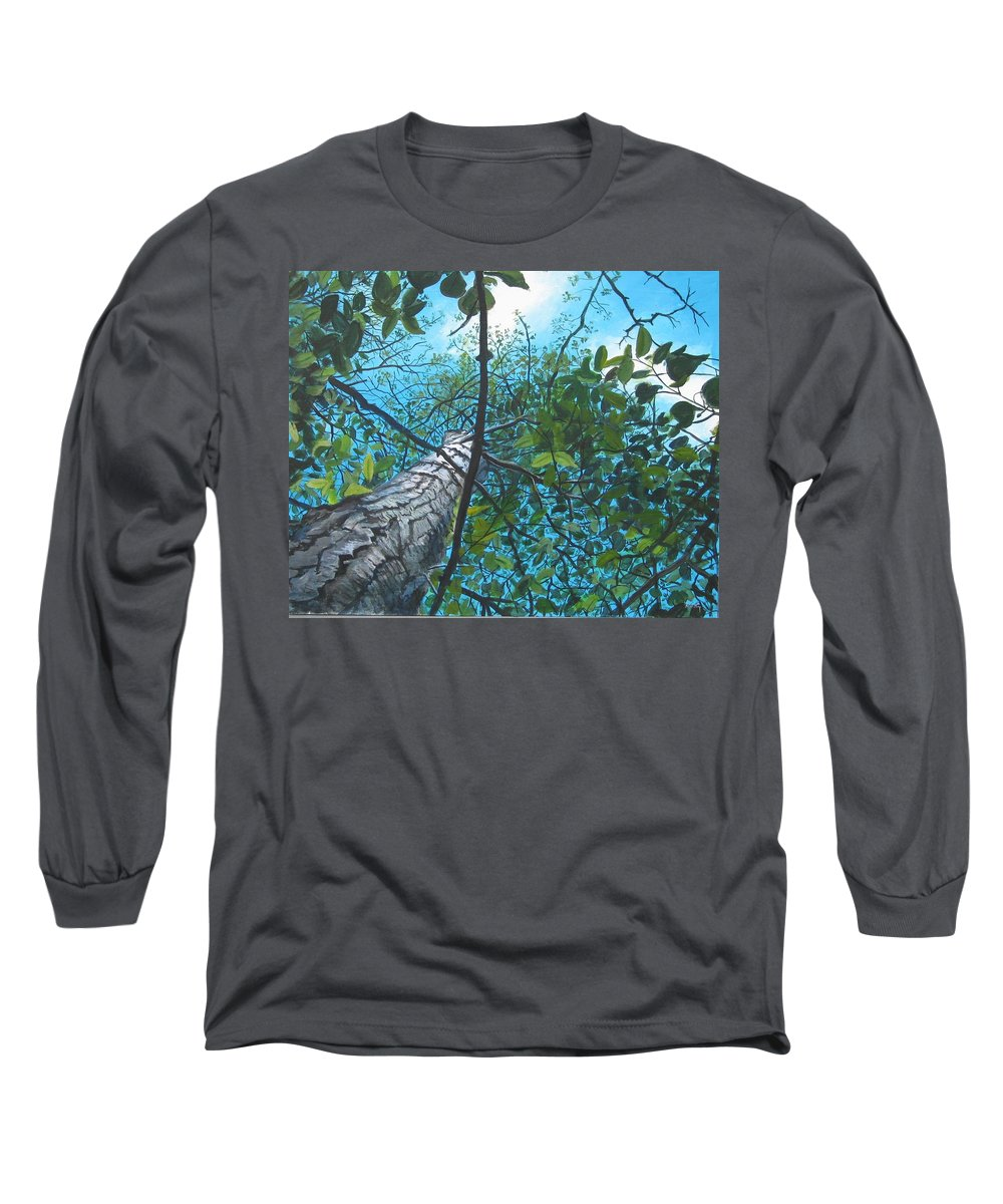 Landscape Long Sleeve T-Shirt featuring the painting Skyward by William Brody