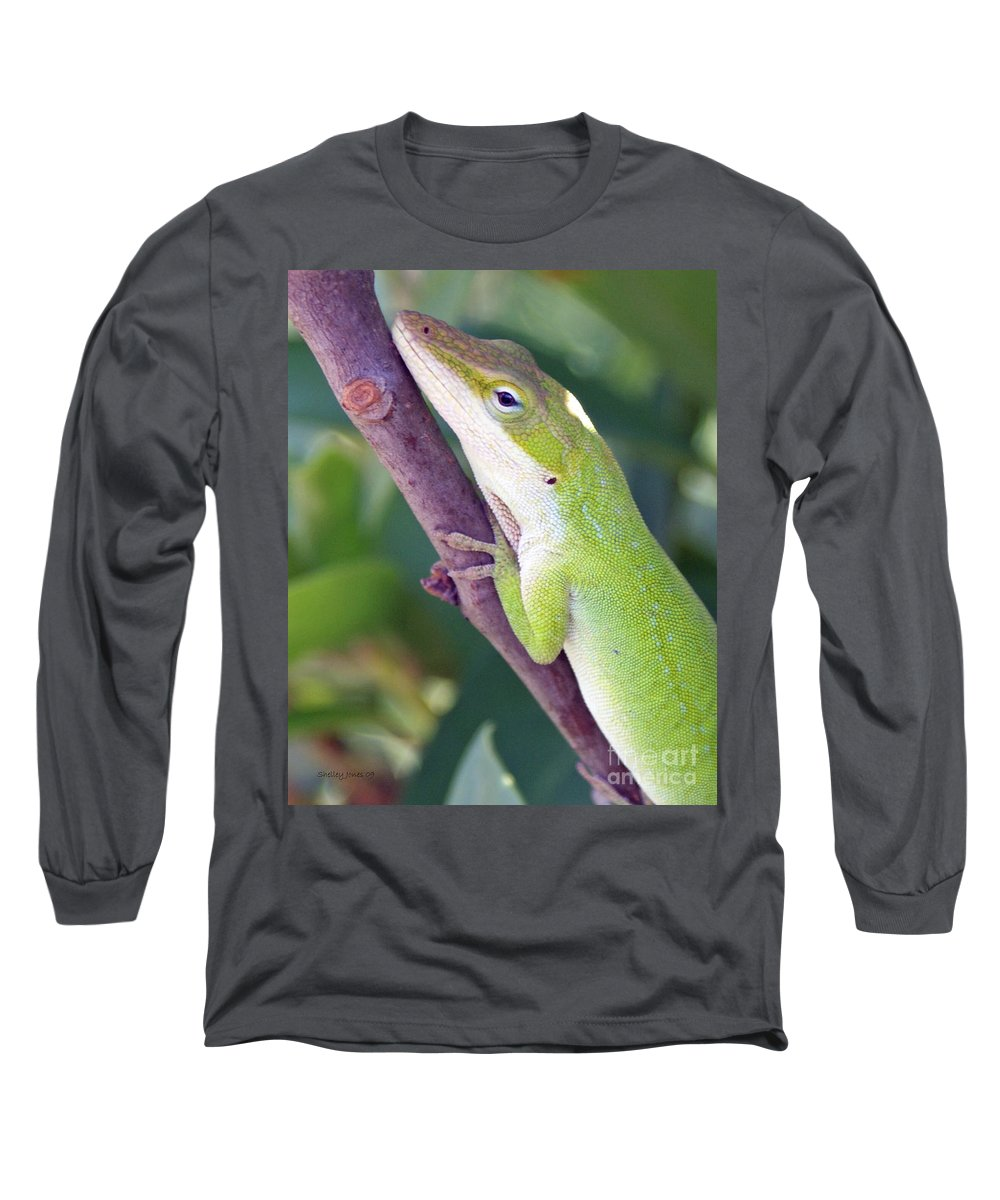 Animal Long Sleeve T-Shirt featuring the photograph Smile by Shelley Jones