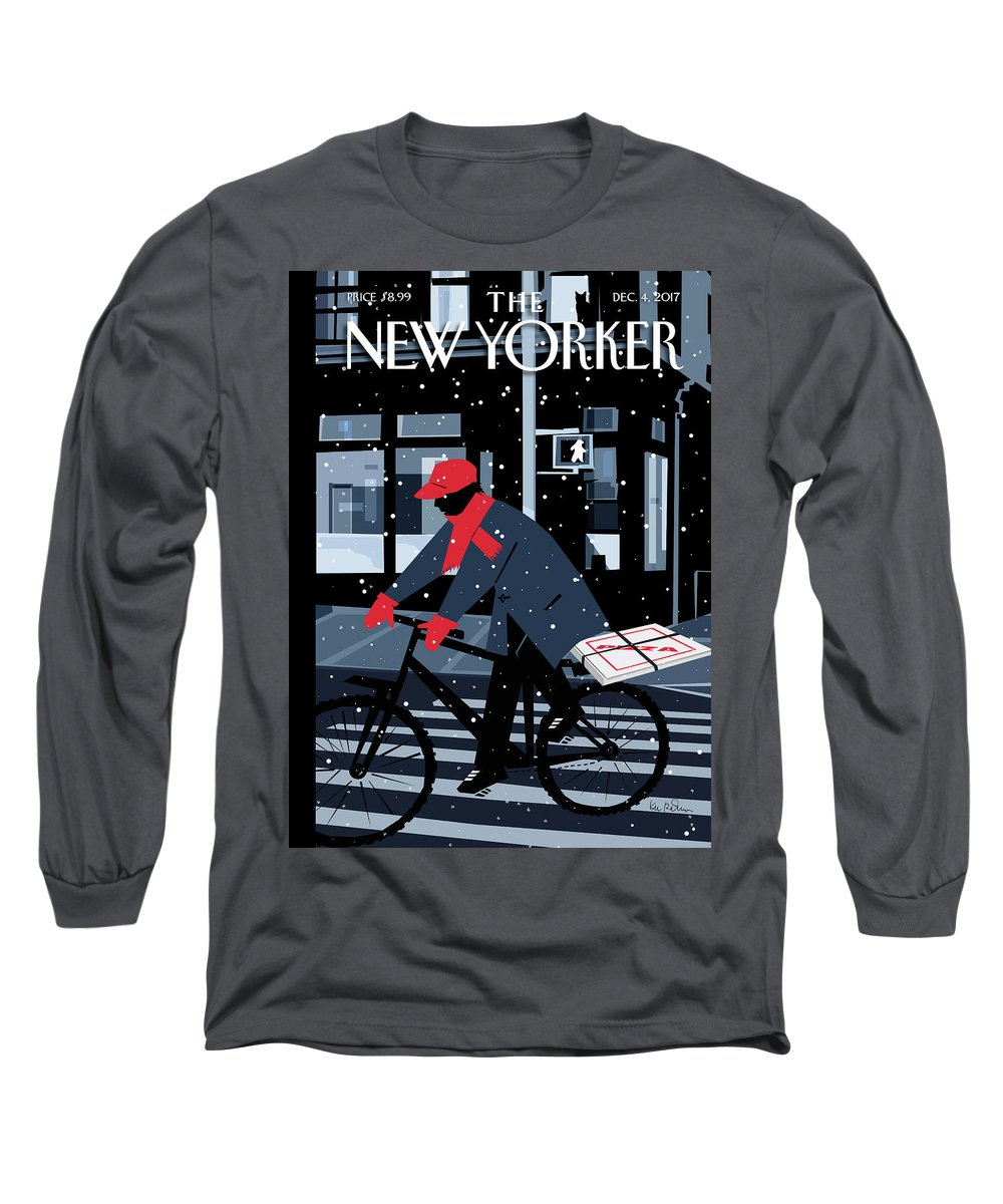 Special Delivery Long Sleeve T-Shirt featuring the digital art Special Delivery by Kim DeMarco