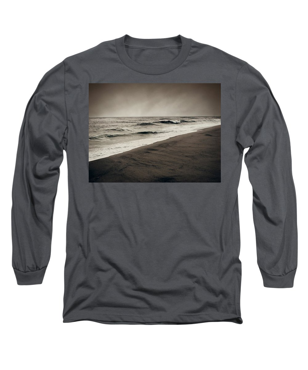 Ocean Long Sleeve T-Shirt featuring the photograph Spending My Days Escaping Memories by Dana DiPasquale