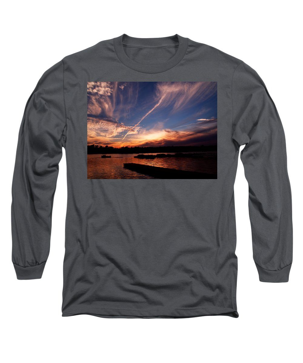 Sky Long Sleeve T-Shirt featuring the photograph Spirits In The Sky by Gaby Swanson