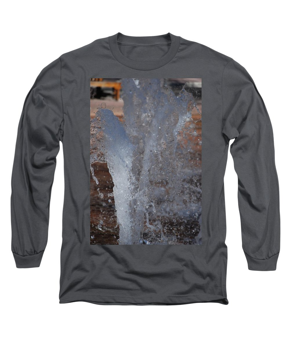 Water Long Sleeve T-Shirt featuring the photograph Splash by Rob Hans