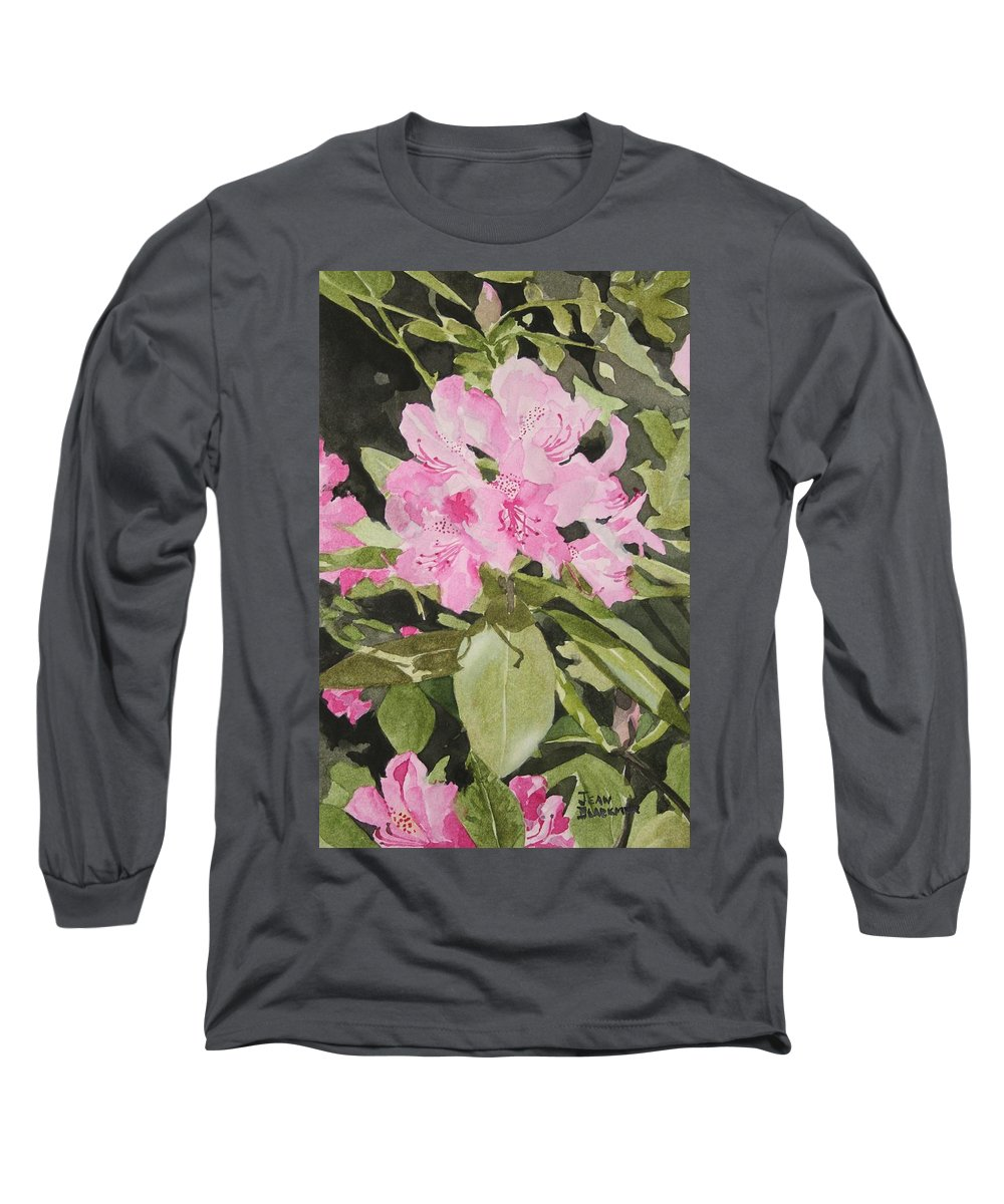 Flowers Long Sleeve T-Shirt featuring the painting Spring At The Cabin by Jean Blackmer