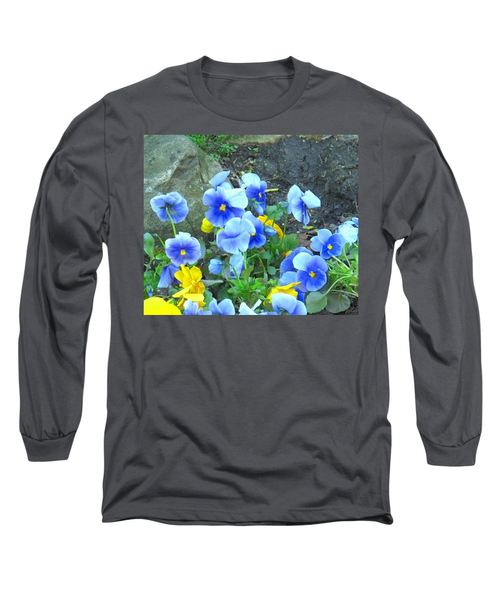 Blue Long Sleeve T-Shirt featuring the photograph Spring Beauties by Ian MacDonald