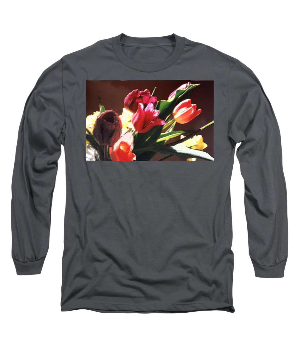 Floral Still Life Long Sleeve T-Shirt featuring the photograph Spring Bouquet by Steve Karol
