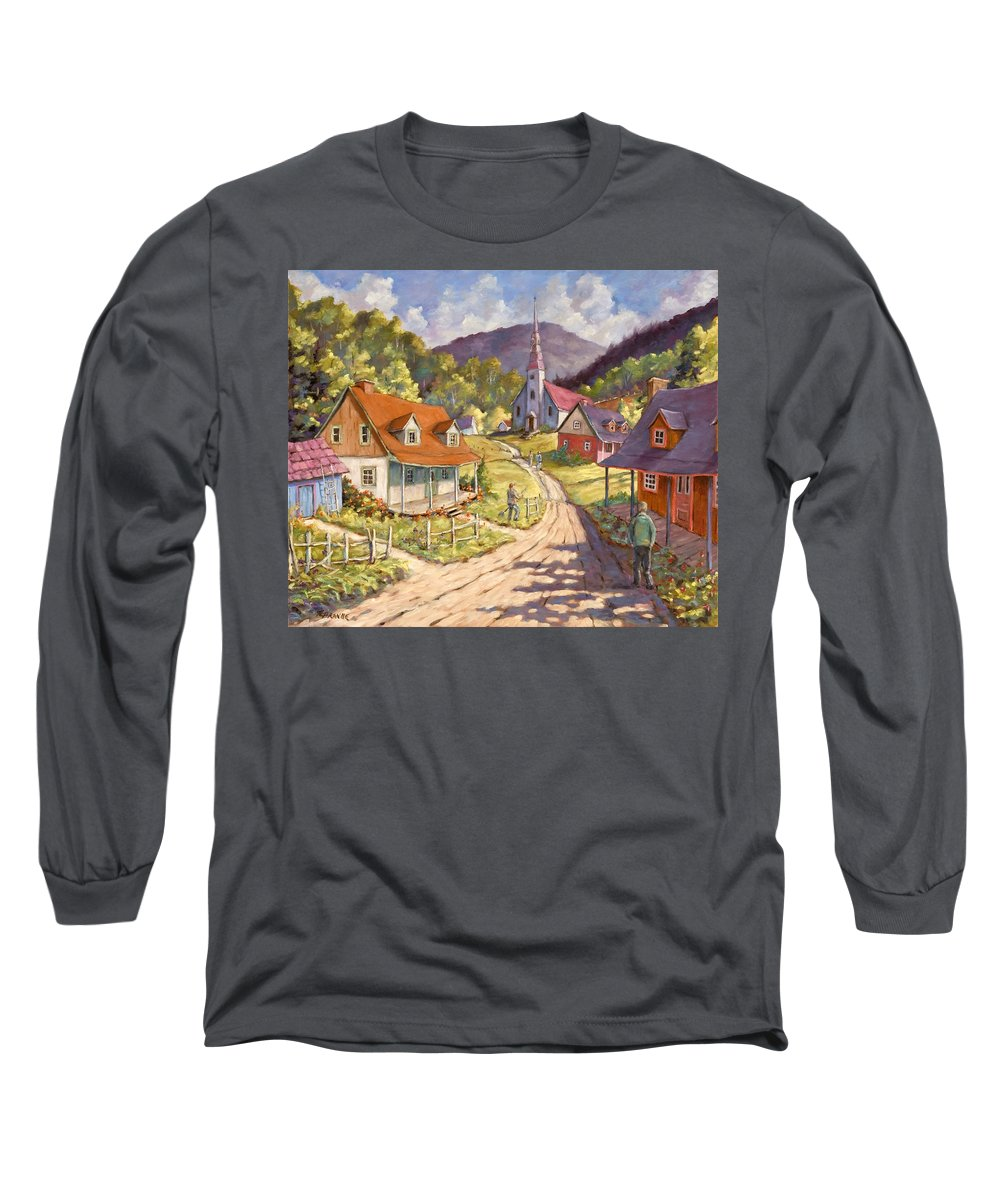 Art Long Sleeve T-Shirt featuring the painting Spring Time Sun by Richard T Pranke
