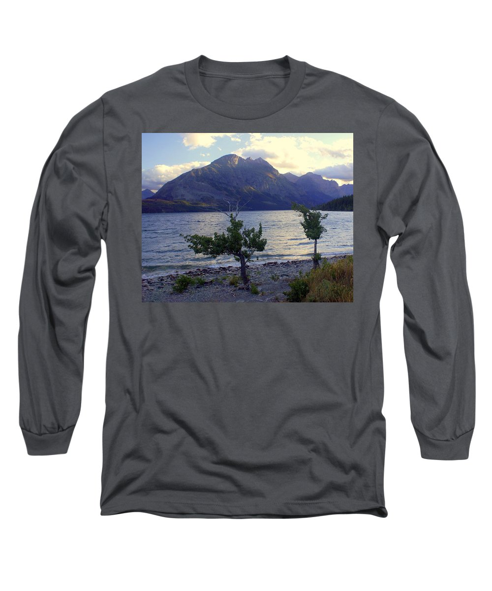 St. Mary's Lake Long Sleeve T-Shirt featuring the photograph St. Mary Lake by Marty Koch
