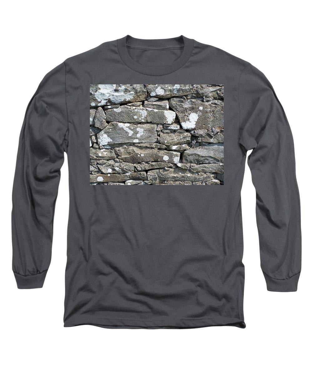 Irish Long Sleeve T-Shirt featuring the photograph Stone Wall Detail Doolin Ireland by Teresa Mucha