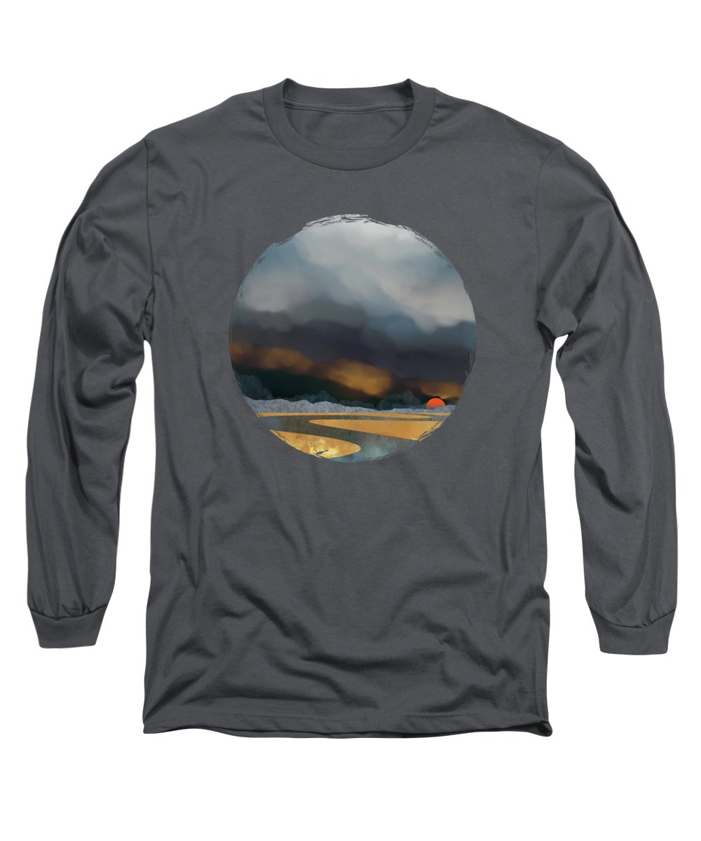Storm Long Sleeve T-Shirt featuring the digital art Storm Light by Spacefrog Designs