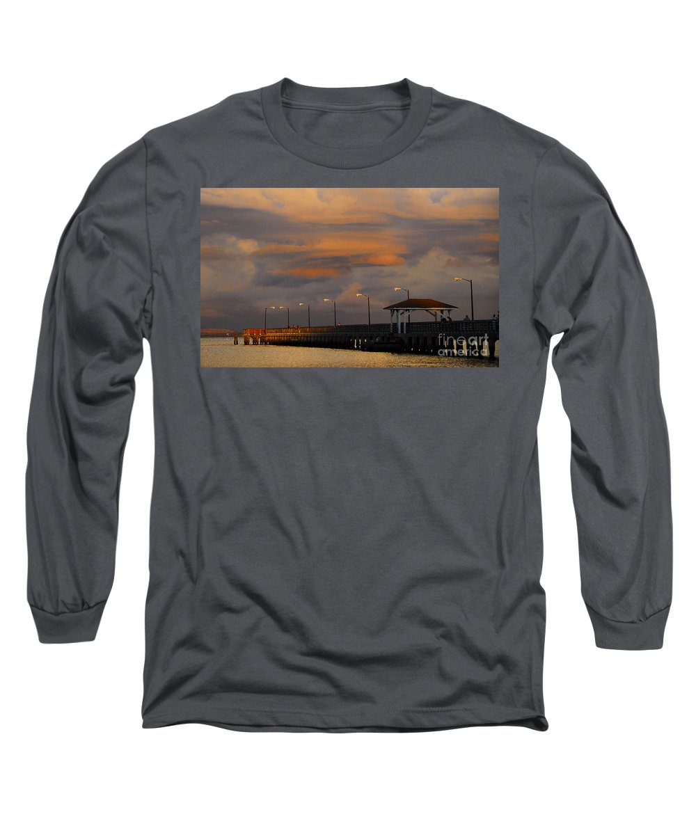 Storm Long Sleeve T-Shirt featuring the photograph Storm Over Ballast Point by David Lee Thompson