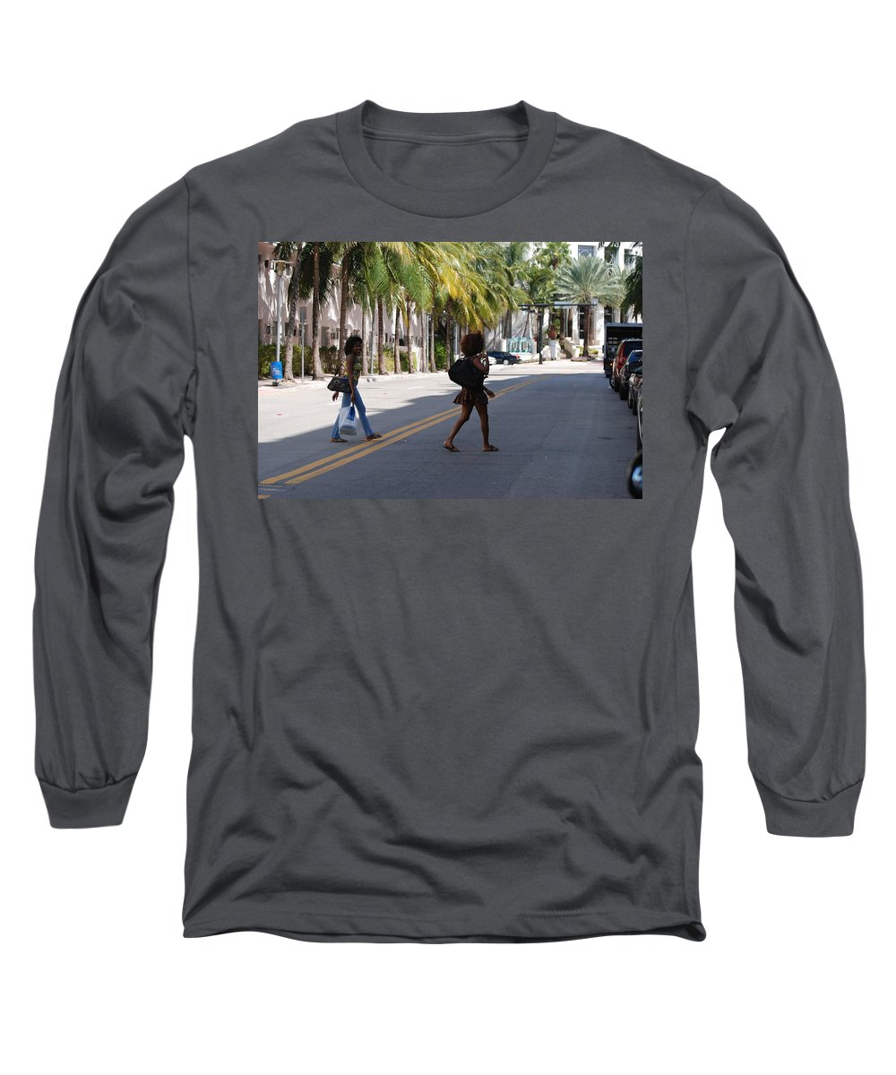 Girls Long Sleeve T-Shirt featuring the photograph Street Walkers by Rob Hans