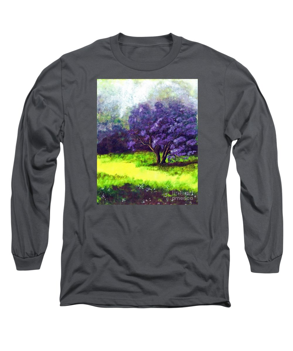 Fine Art Print Long Sleeve T-Shirt featuring the painting Summer Mist by Patricia Griffin Brett