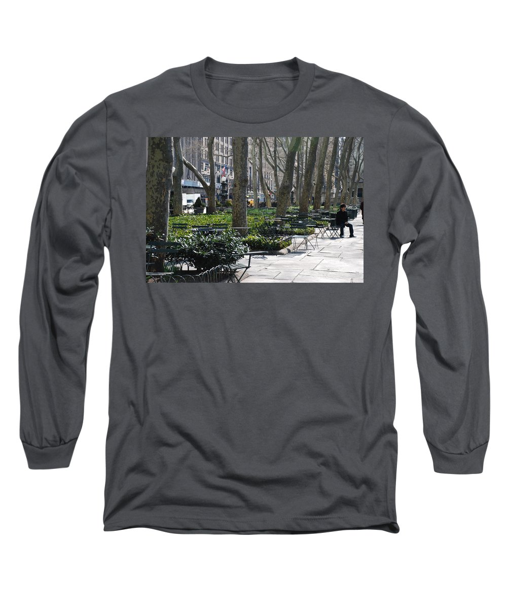 Parks Long Sleeve T-Shirt featuring the photograph Sunny Morning In The Park by Rob Hans