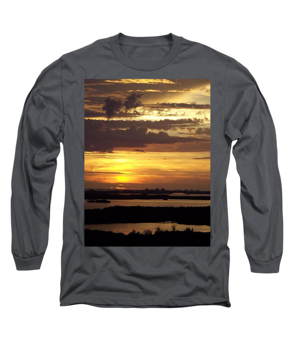 Sunset Long Sleeve T-Shirt featuring the photograph Sunset 0001 by Laurie Paci