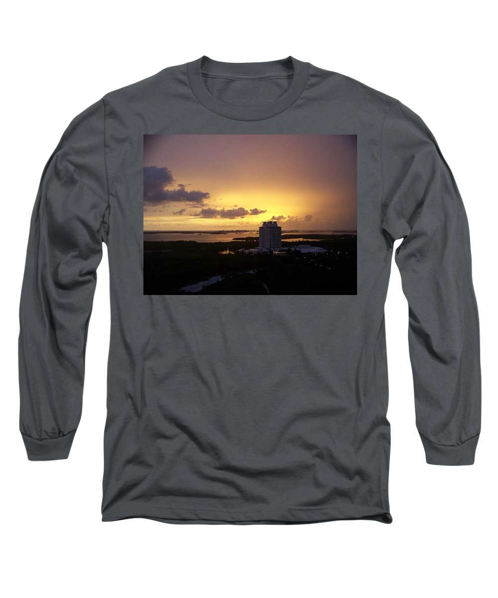 Sunset Long Sleeve T-Shirt featuring the photograph Sunset 0003 by Laurie Paci