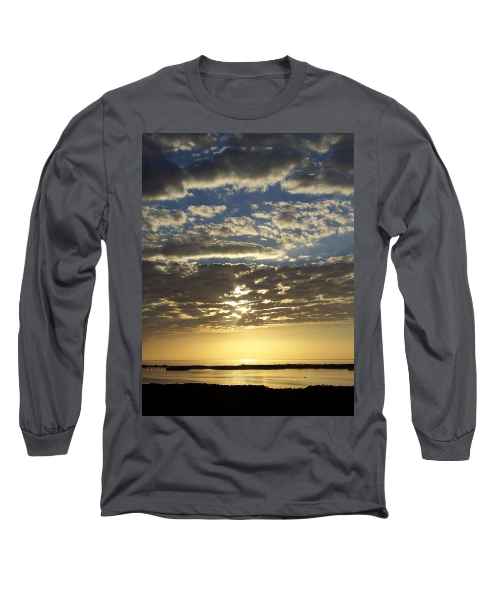 Sunset Long Sleeve T-Shirt featuring the photograph Sunset 0011 by Laurie Paci