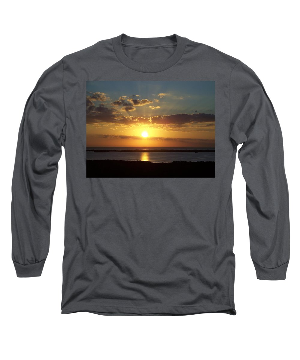 Sunset Long Sleeve T-Shirt featuring the photograph Sunset 0012 by Laurie Paci
