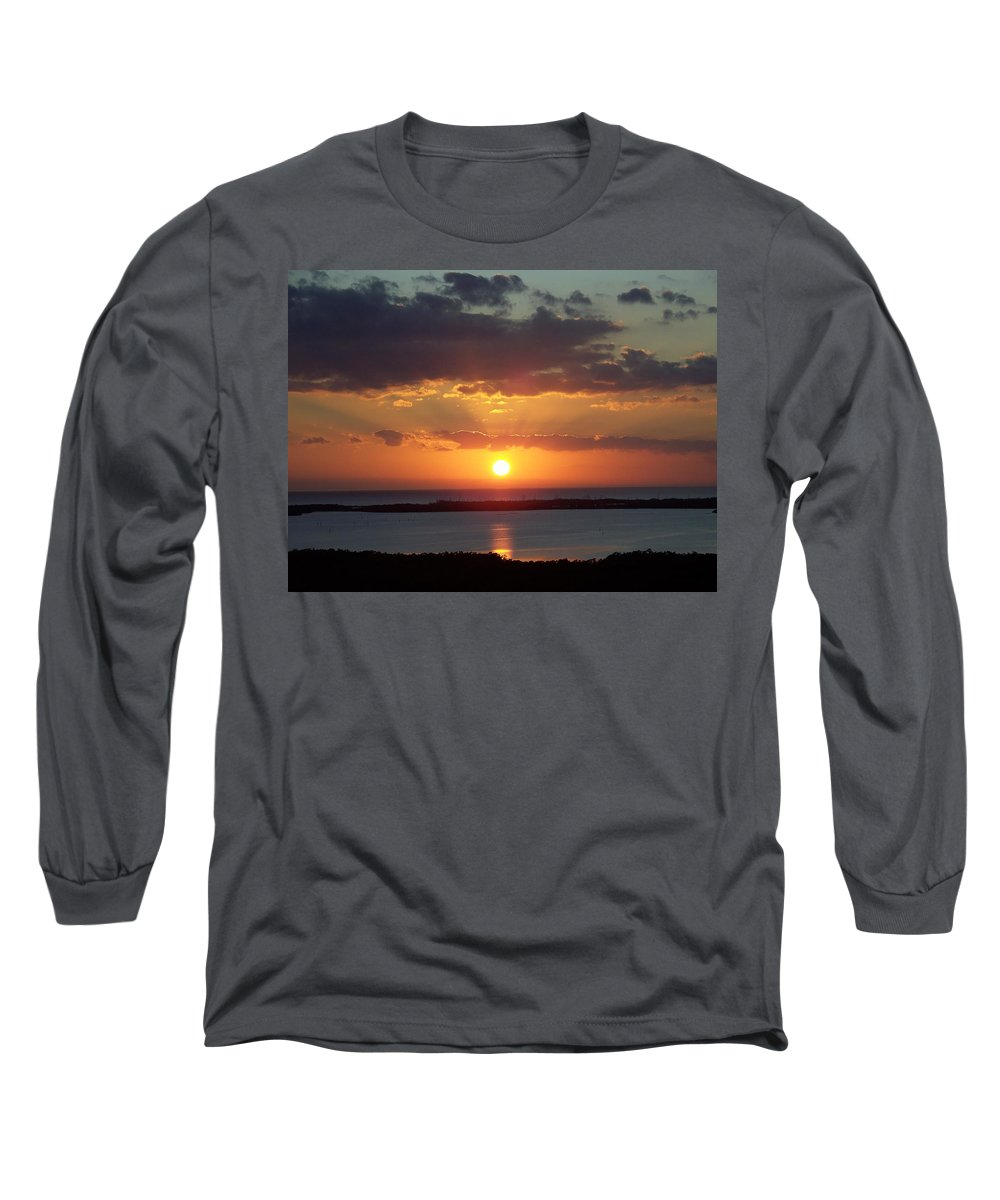 Sunset Long Sleeve T-Shirt featuring the photograph Sunset 0013 by Laurie Paci
