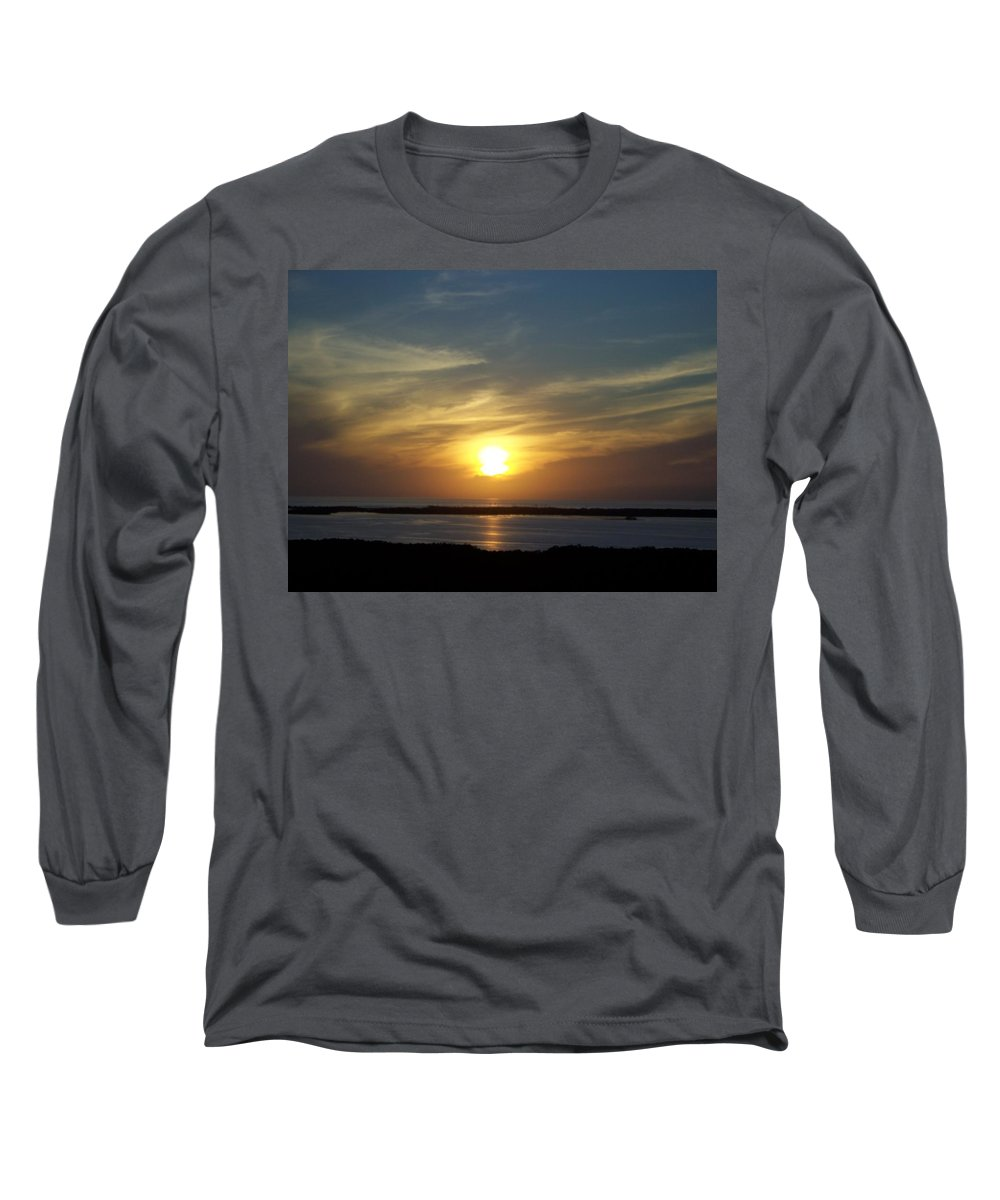 Sunset Long Sleeve T-Shirt featuring the photograph Sunset 0031 by Laurie Paci