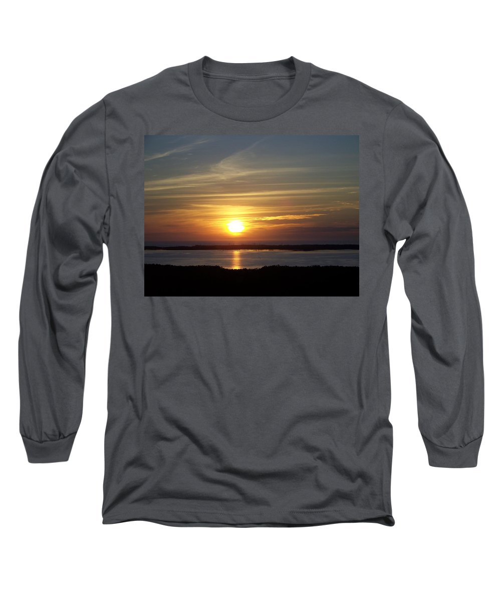 Sunset Long Sleeve T-Shirt featuring the photograph Sunset 0035 by Laurie Paci