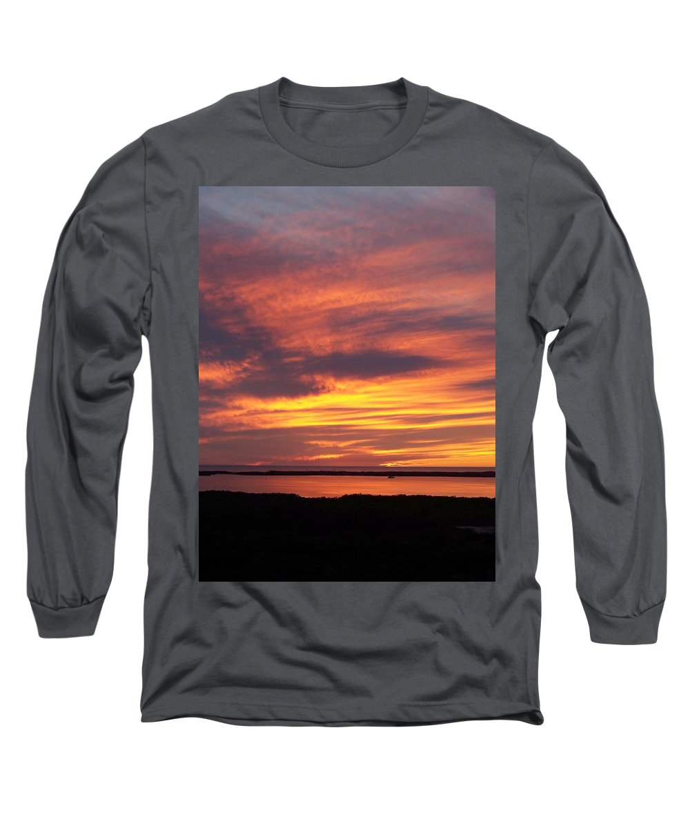 Sunset Long Sleeve T-Shirt featuring the photograph Sunset 0037 by Laurie Paci