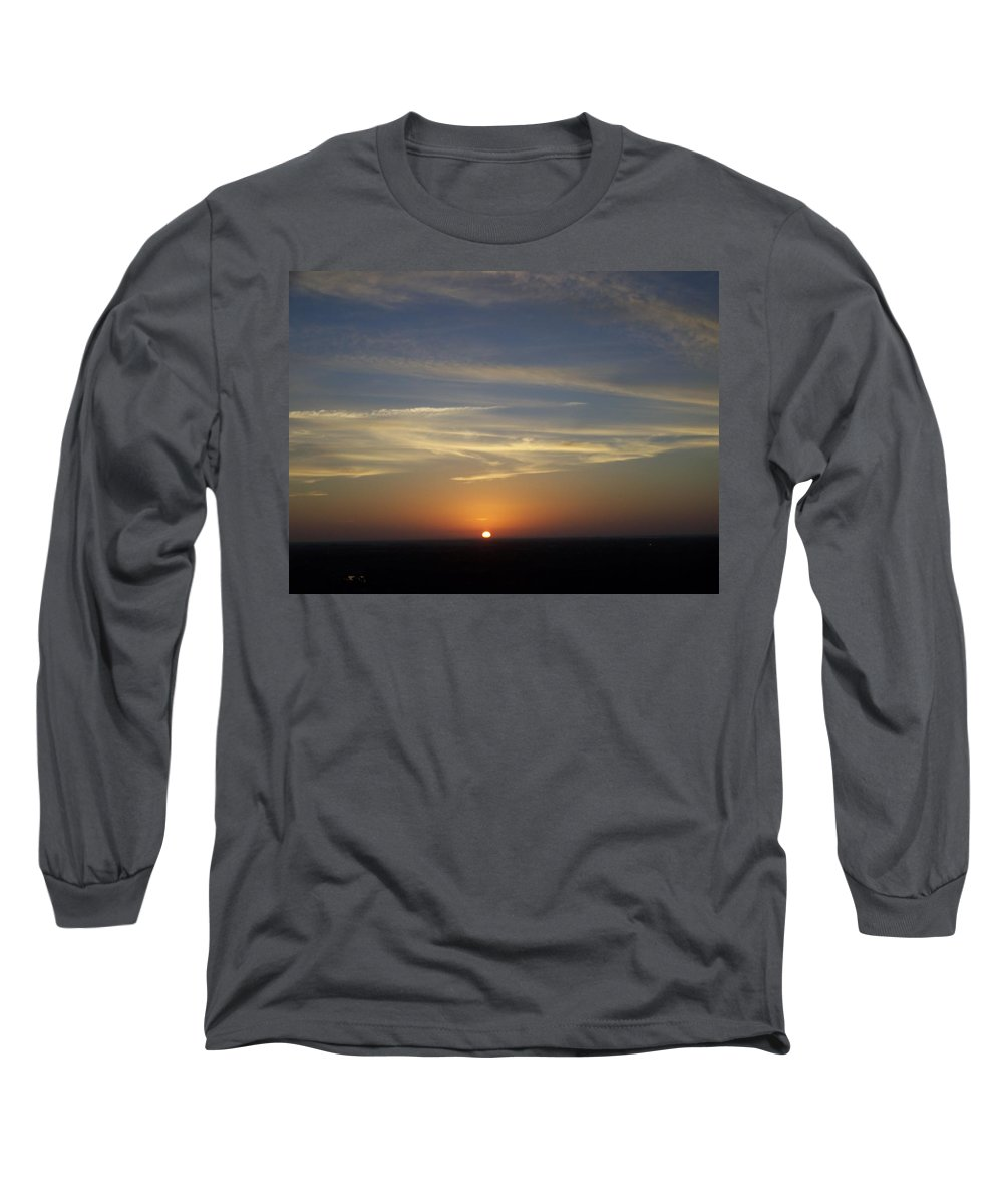 Sunset Long Sleeve T-Shirt featuring the photograph Sunset 0040 by Laurie Paci