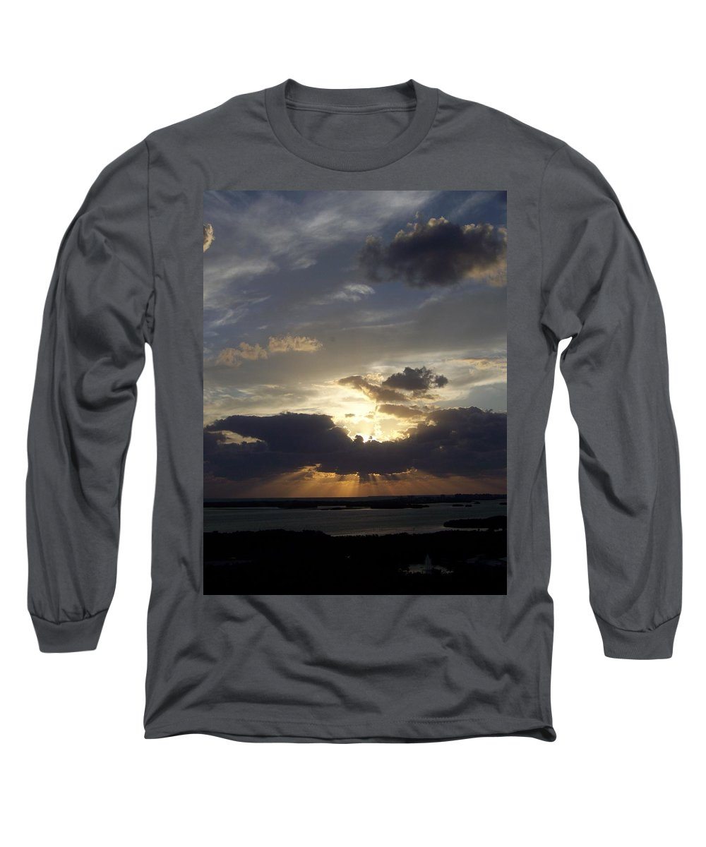 Sunset Long Sleeve T-Shirt featuring the photograph Sunset 0044 by Laurie Paci