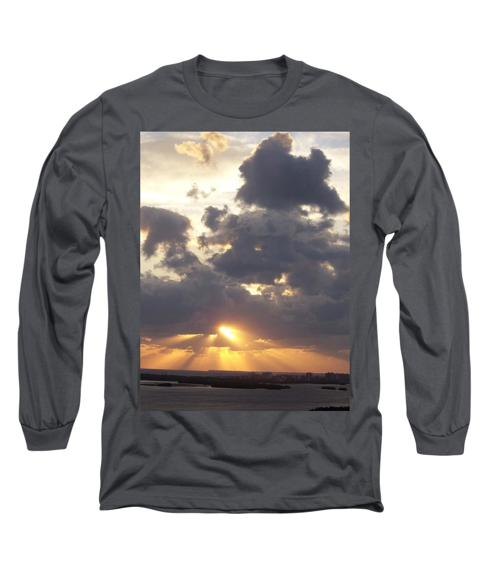 Sunset Long Sleeve T-Shirt featuring the photograph Sunset 0045 by Laurie Paci
