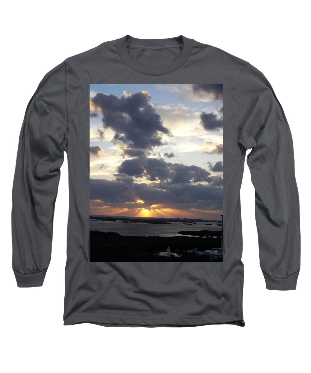 Sunset Long Sleeve T-Shirt featuring the photograph Sunset 0046 by Laurie Paci