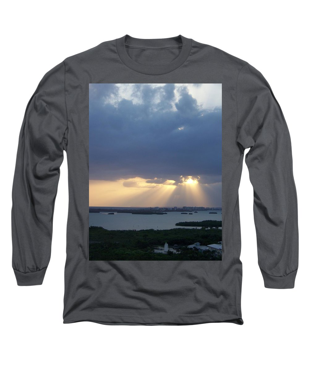 Sunset Long Sleeve T-Shirt featuring the photograph Sunset 0048 by Laurie Paci