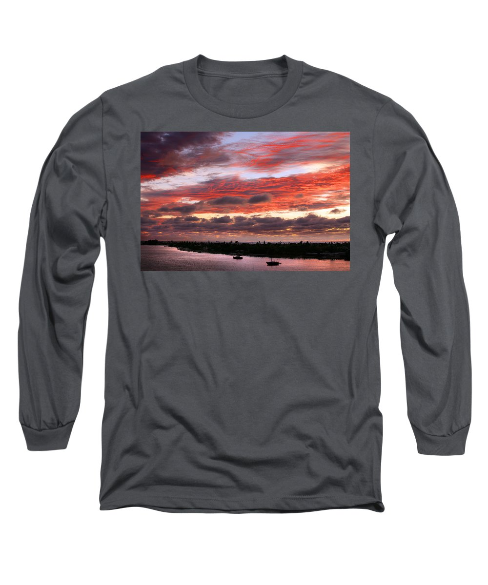 Sun Long Sleeve T-Shirt featuring the photograph Sunset At Pass A Grille Florida by Mal Bray