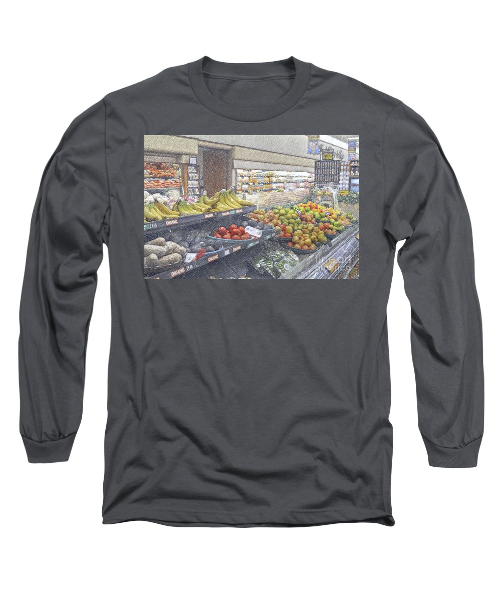 Supermarket Produce Section Long Sleeve T-Shirt featuring the photograph Supermarket Produce Section by David Zanzinger