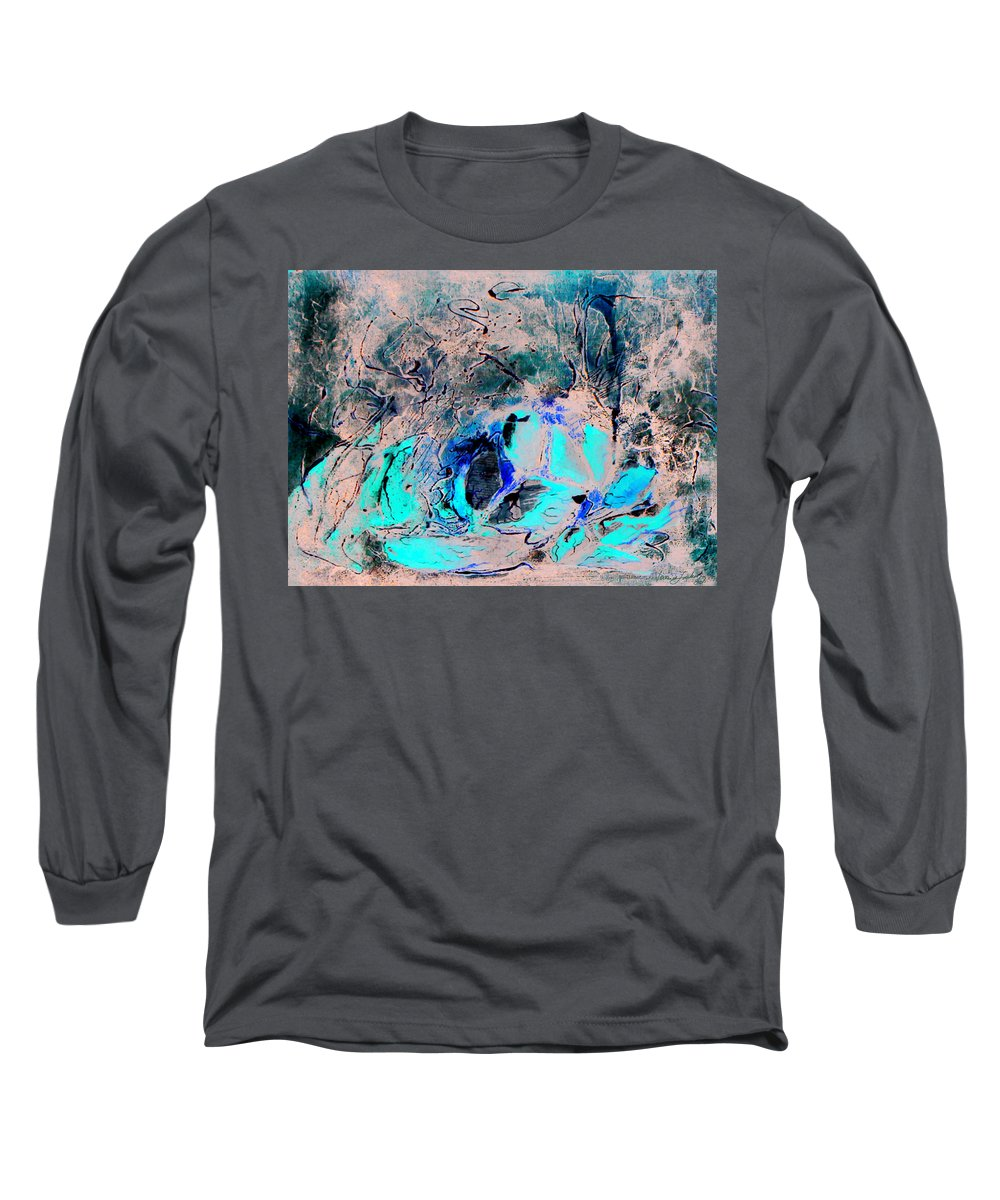 Food Collage Texture Red Long Sleeve T-Shirt featuring the mixed media Supper Is Ready by Veronica Jackson