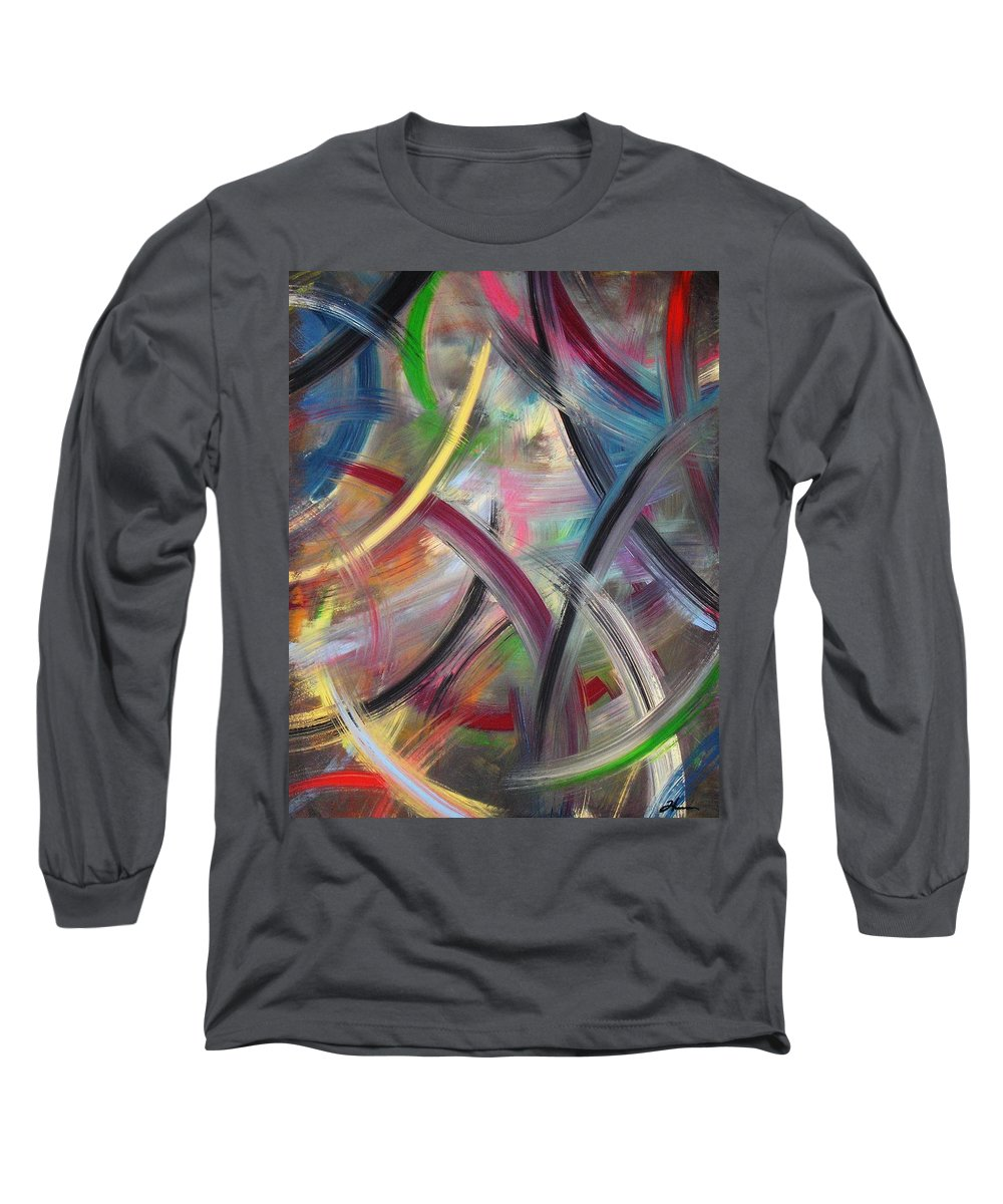Acrylic Long Sleeve T-Shirt featuring the painting Swish by Todd Hoover